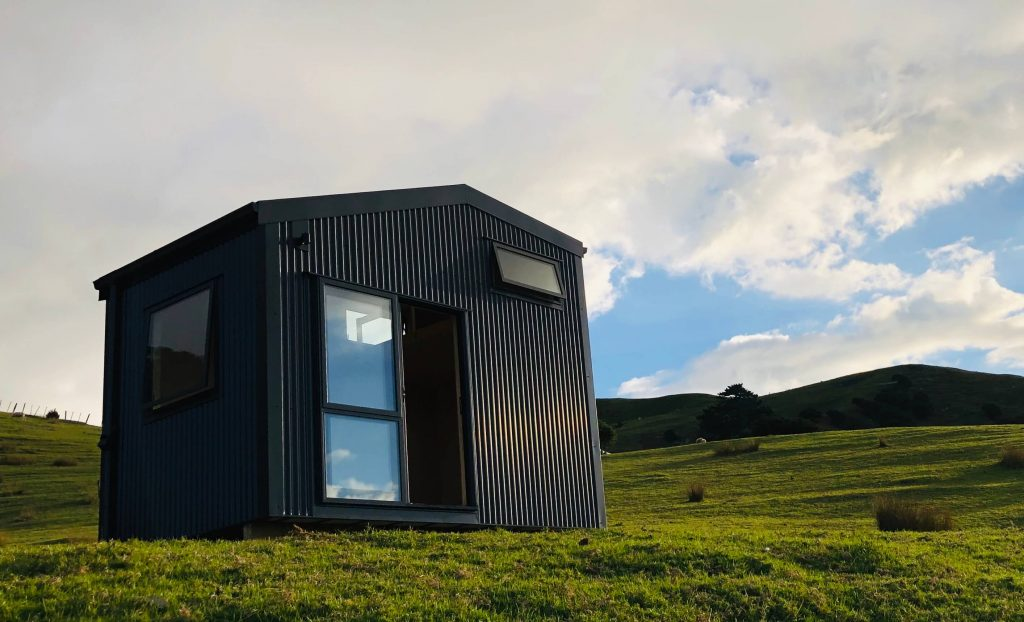 Fox Den Mezzanine Cabin by Fox Cabins used for a glamping airbnb eco retreat