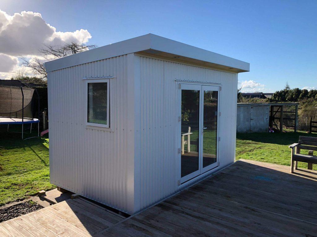 The Fox Box Cabin in white