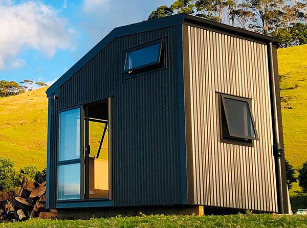 Fox Den Mezzanine Cabin with Colorsteel corrugate cladding