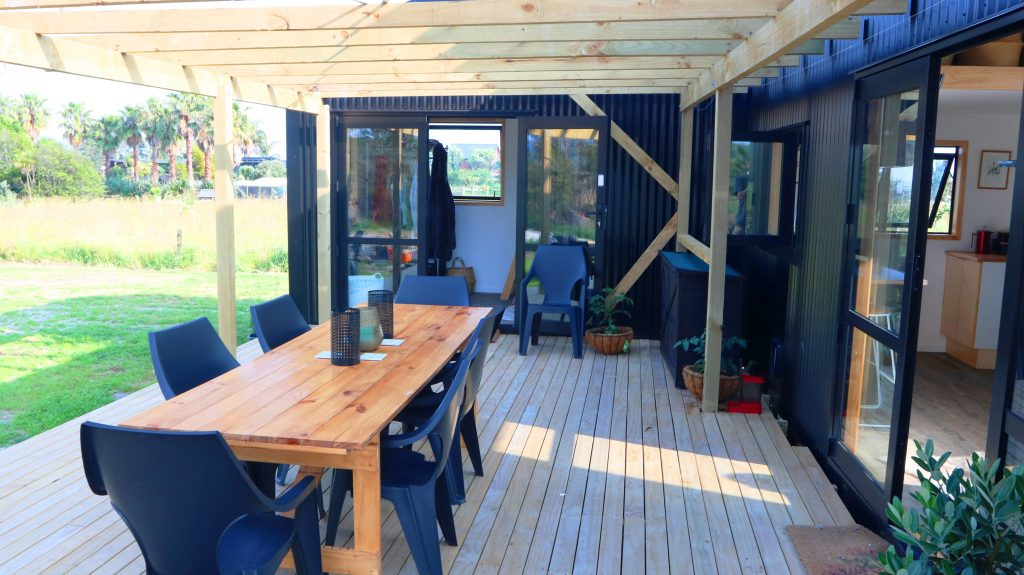 Deck Area outside a Tiny House on Wheels