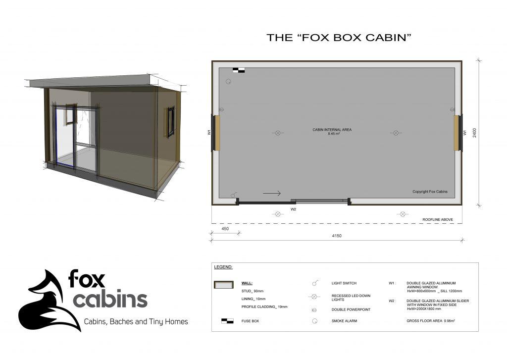 Fox Box Cabin Plan
